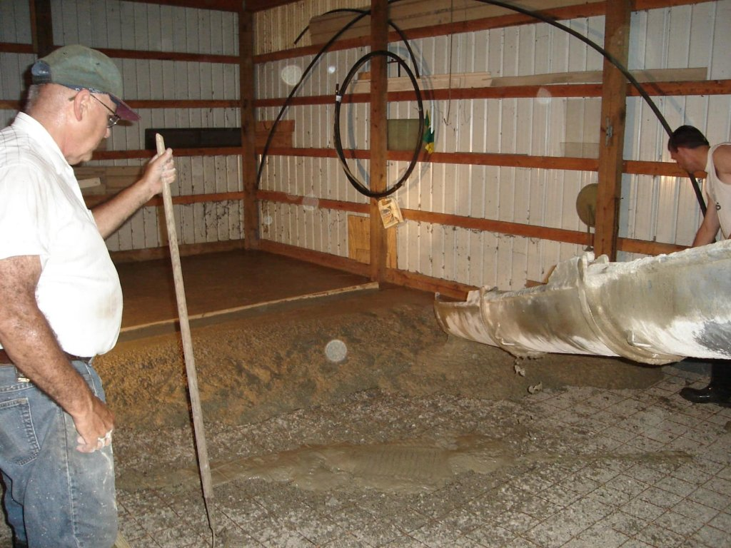 Pouring Concrete In An Existing Pole Barn : Concrete slab in pole barn bryan ohio jeremykrill