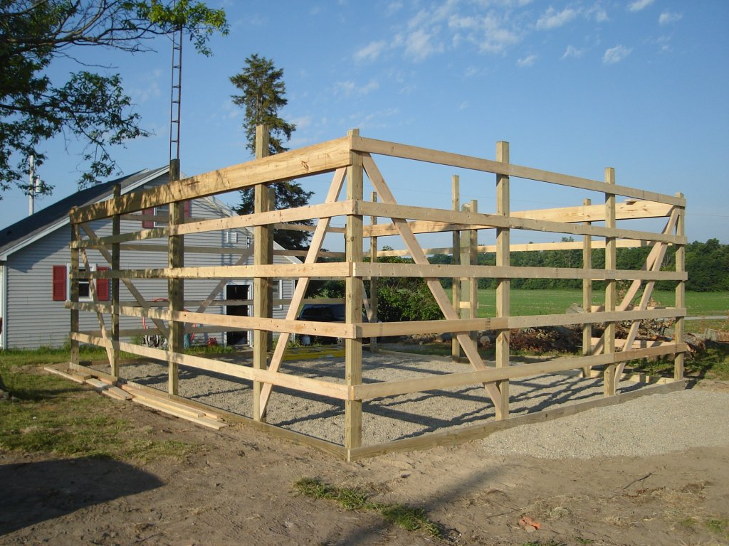 24 x 30 pole barn garage hicksville ohio for How to build a small pole barn