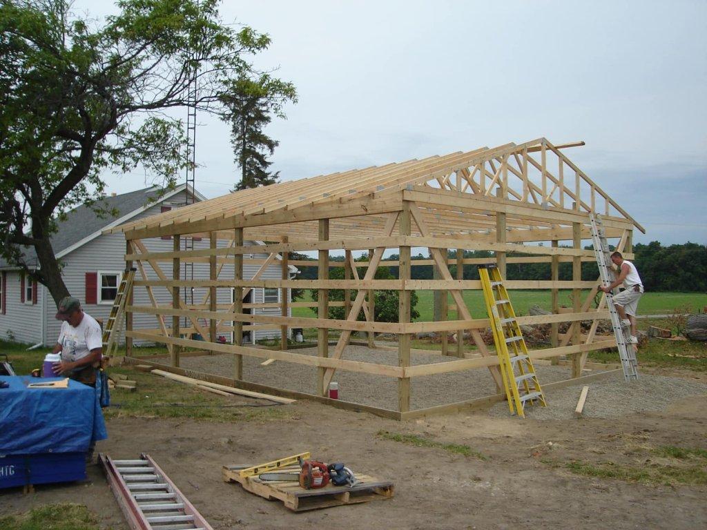 Menards Laminate Flooring >> 24′ x 30′ Pole Barn Garage – Hicksville, Ohio | JeremyKrill.com