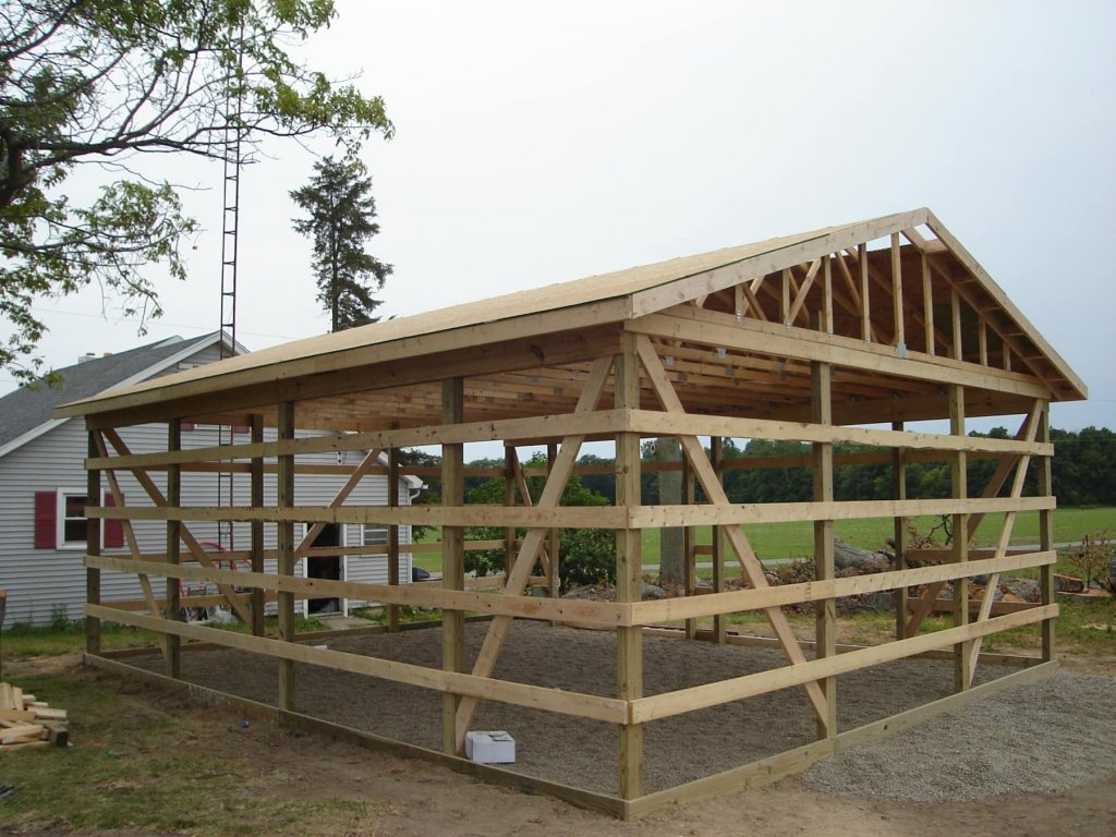 24 x 30 pole barn garage hicksville ohio for Pole building garage plans