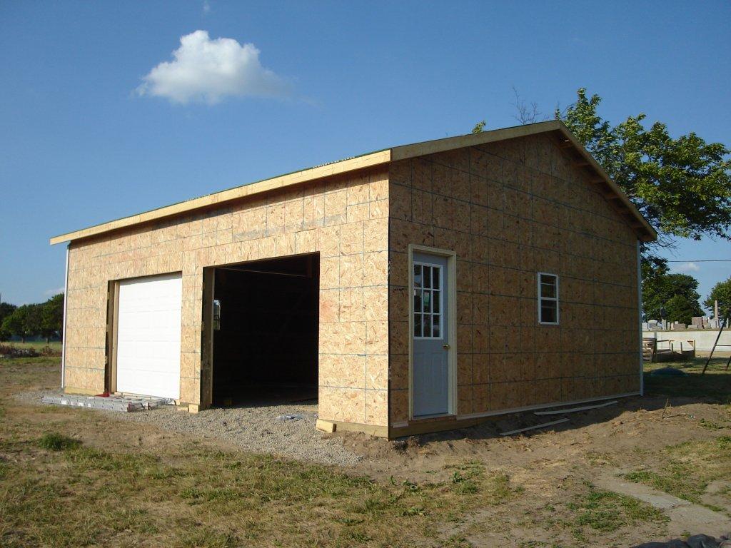 24 x 30 pole barn garage hicksville ohio for Pole barn house plans and prices ohio