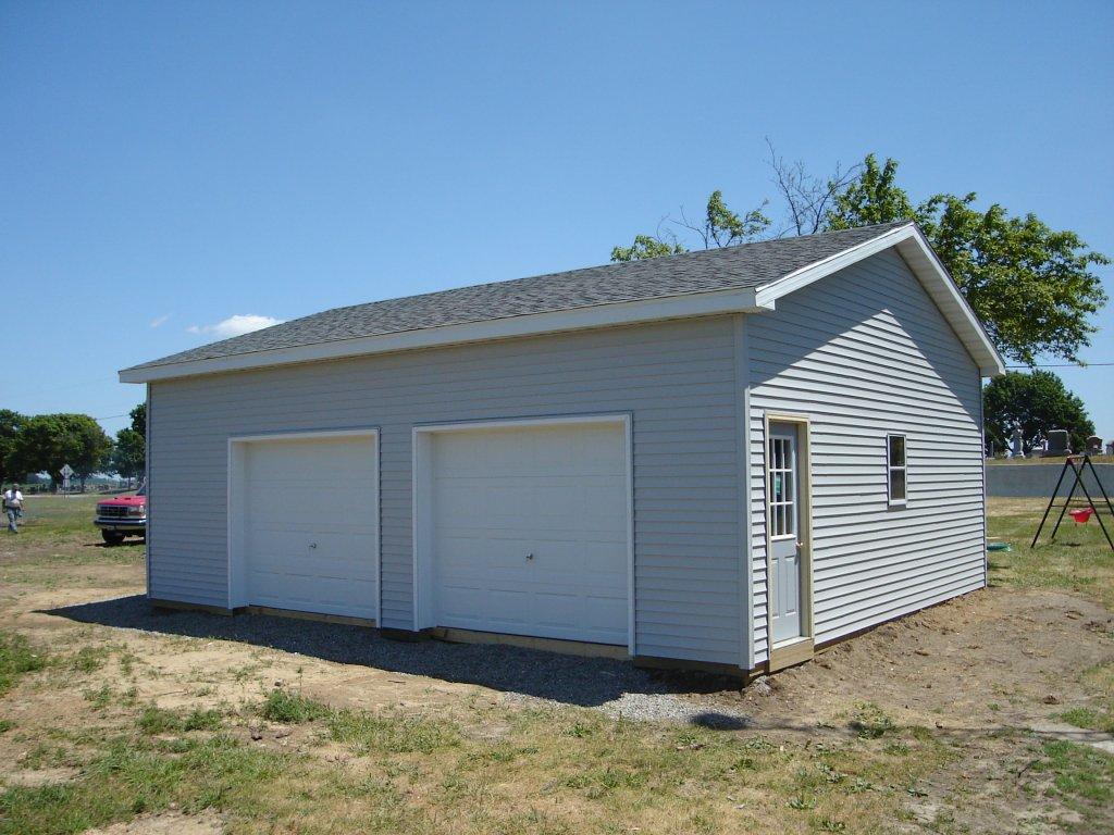 24 x 30 pole barn garage hicksville ohio for Barns garages