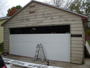 Detached Garage Facelift Carriage Door Opener Vinyl