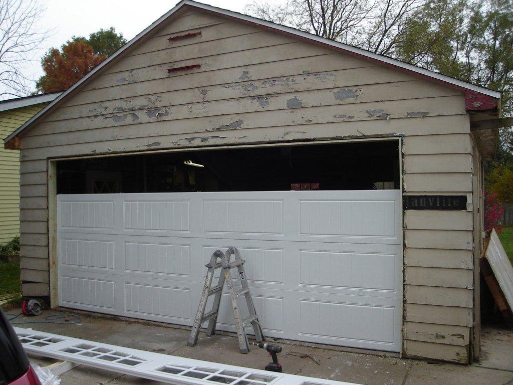 Detached Garage Facelift Carriage Door Opener Vinyl