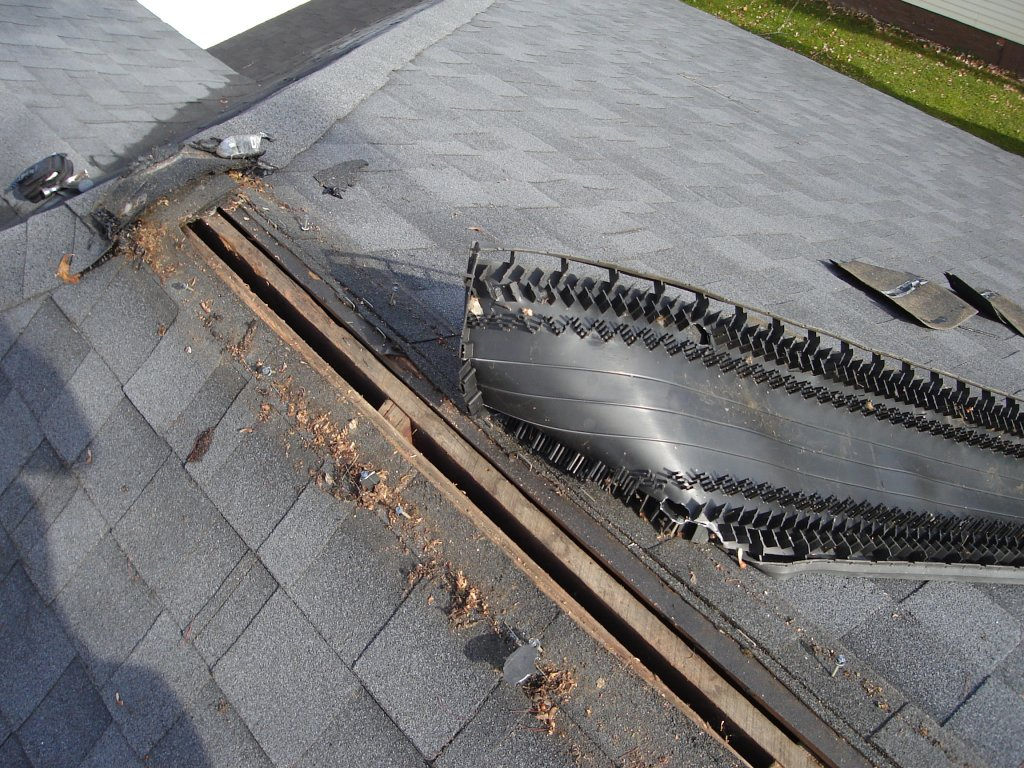 Roof Venting Problems : Ridge vent replacement hicksville ohio jeremykrill