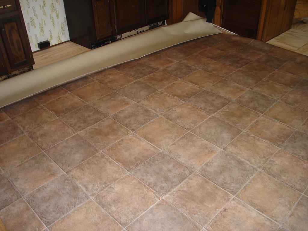 Glueless vinyl flooring for Linoleum flooring installation