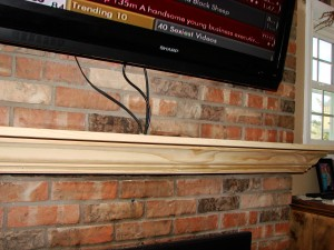 Custom Pine Fireplace Mantel