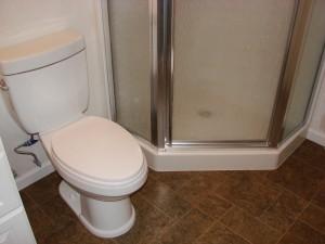 """Toilet & 39"""" Corner Shower"""