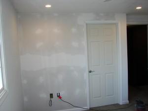 New Wall Construction w. Six-Panel Door