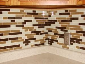 Kitchen Remodel - Glass Mosaic Tile Backsplash