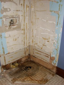 Old Corner Shower Removed