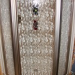 "39"" Corner Shower - Nickel door with Moraine glass"