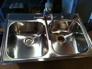 """8"""" Double Stainless Sink"""