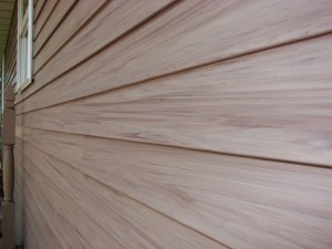Cherry siding with realistic embedded wood grain!