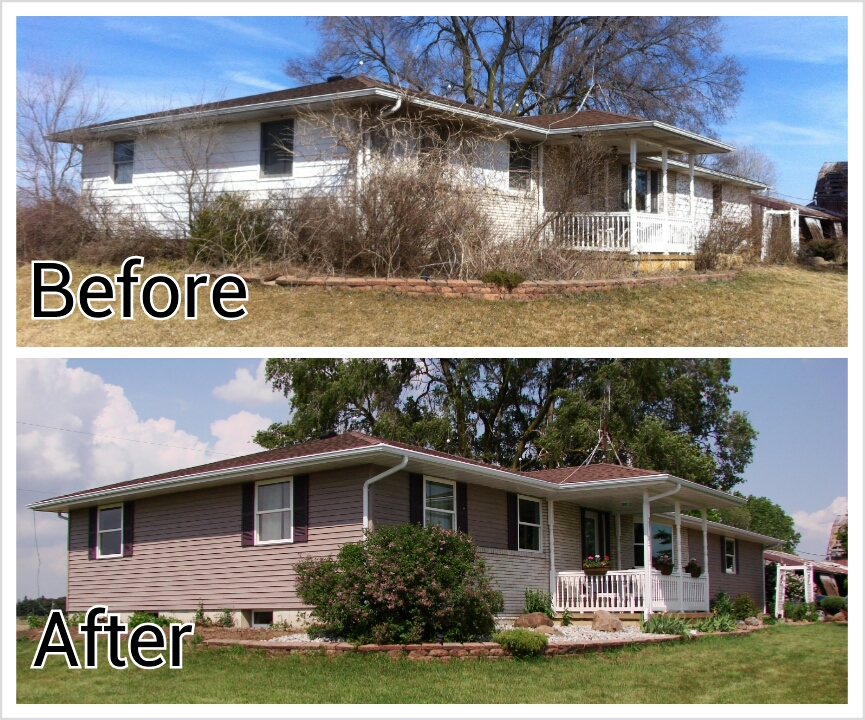 This house went from looking like a country cottage to a suburban immitation just by replacing the siding and windows.