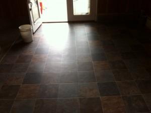 Garage floor - glueless vinyl