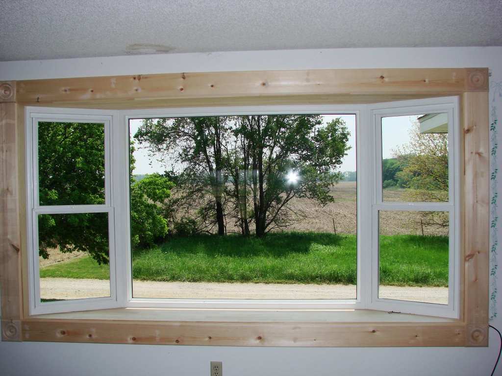 Wonderful Bow Window Installation   Interior Pine Trim W.