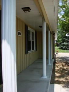 Fluted Aluminum Porch Posts - Bryan, Ohio