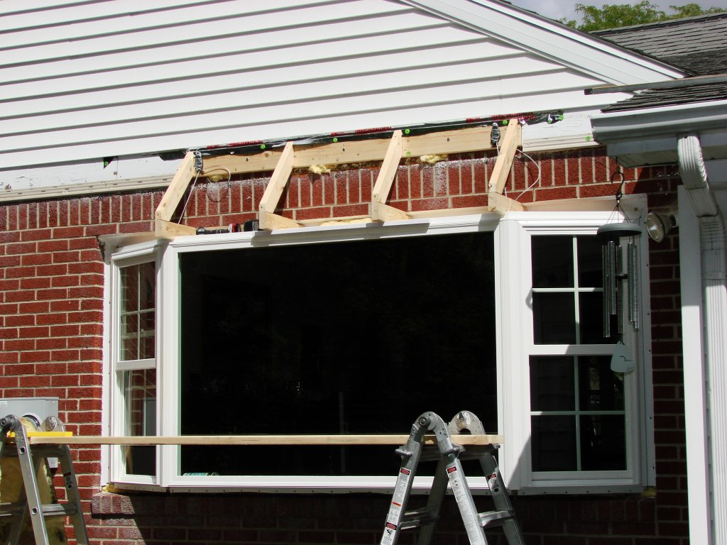 Bay window installation roof construction bryan ohio for Bay window construction details