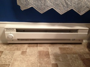 Bathroom Remodel - Hicksville, Ohio - New Electric Baseboard Heater