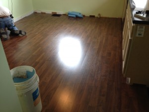 Kitchen Floor After (before baseboard was installed)