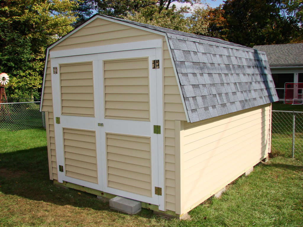 8 x 12 gambrel storage shed bryan ohio for Garden shed tab