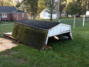 BEFORE - 8 x 12 Gambrel Storage Shed - Bryan, Ohio