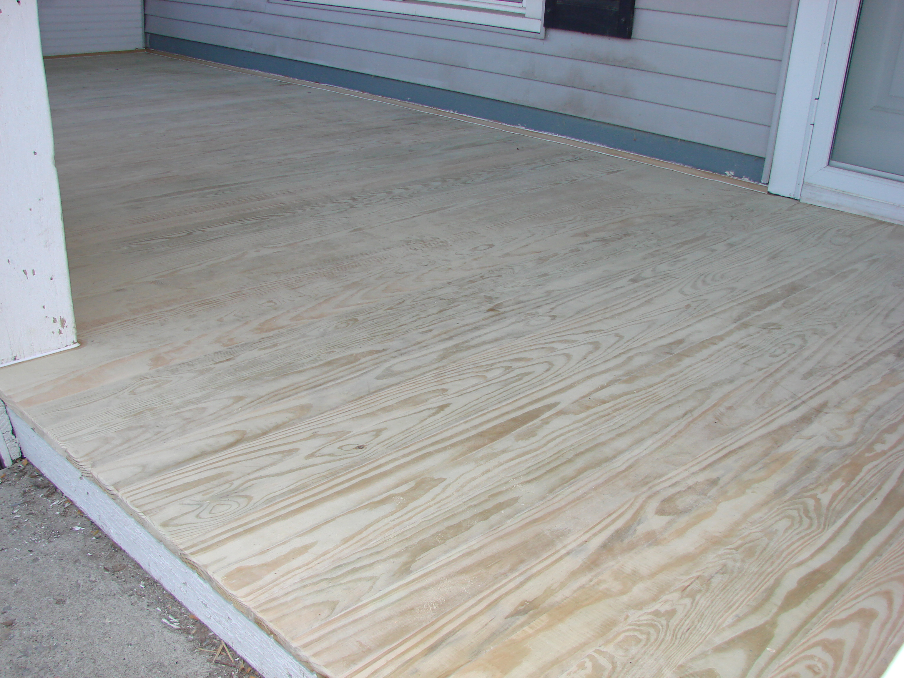 Treated wood porch floor replacement bryan ohio for Porch flooring