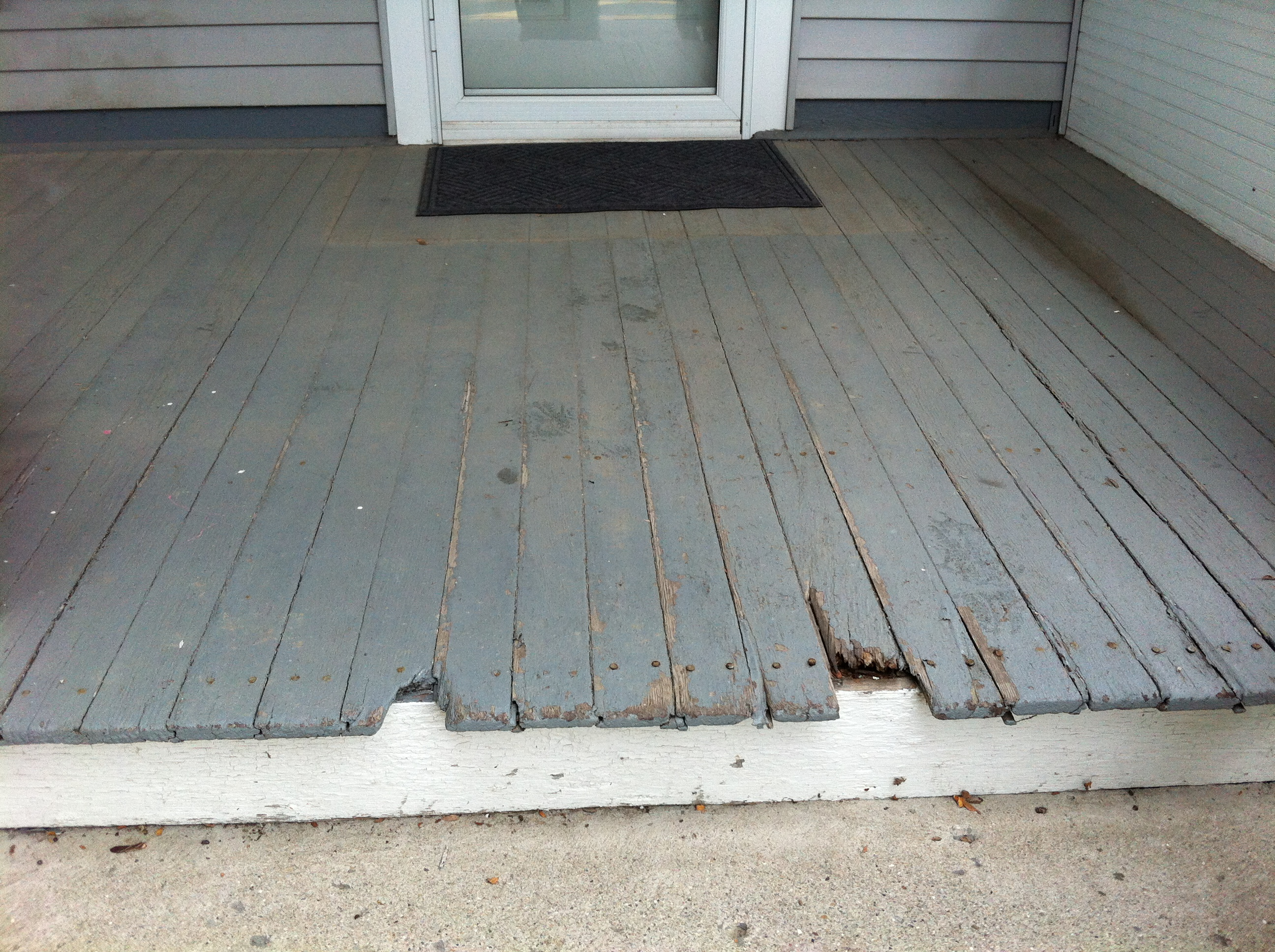 Treated Wood Porch Floor Replacement