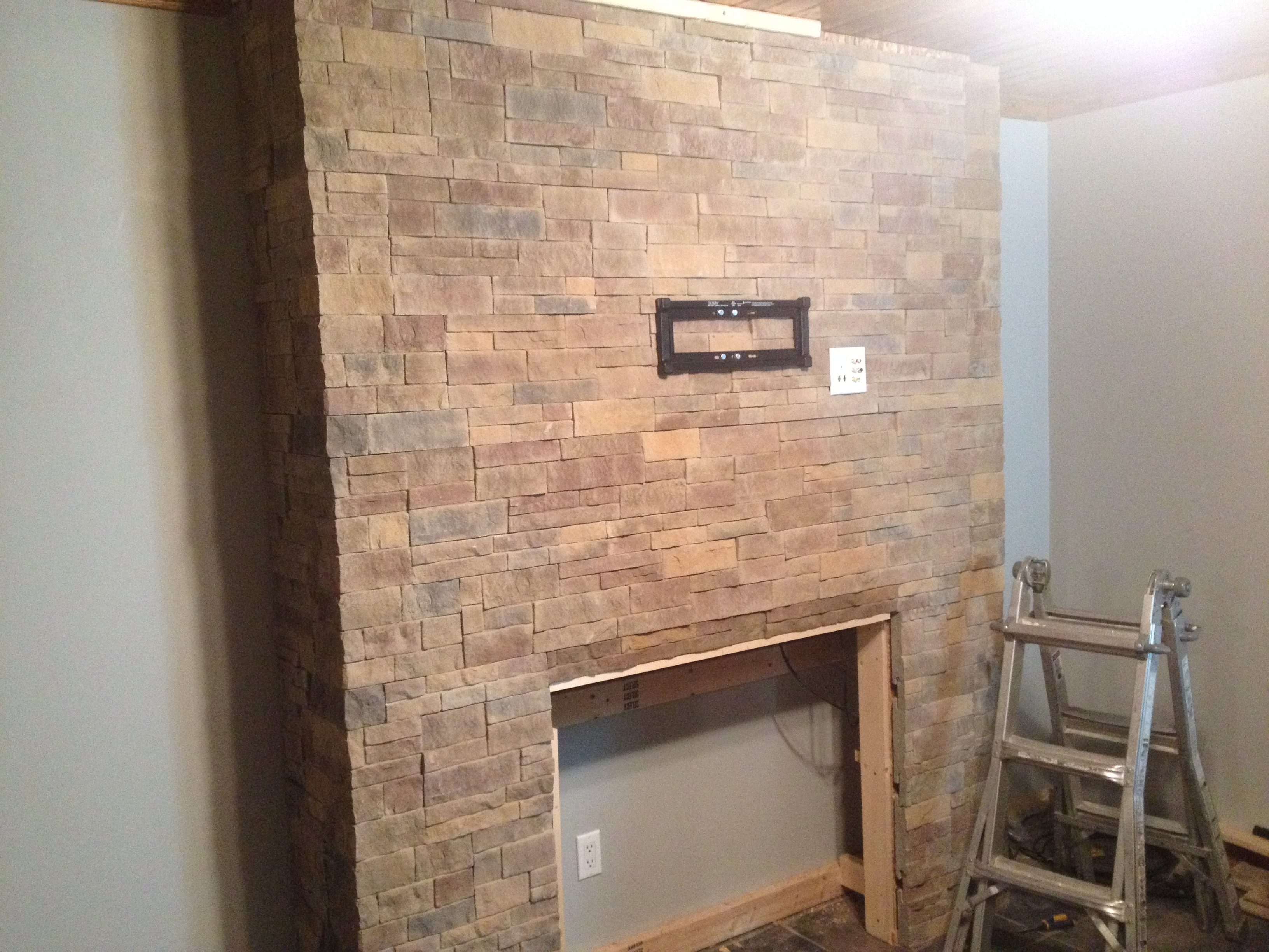 dry stack fireplace indoor fireplace cultured stone veneer carmel