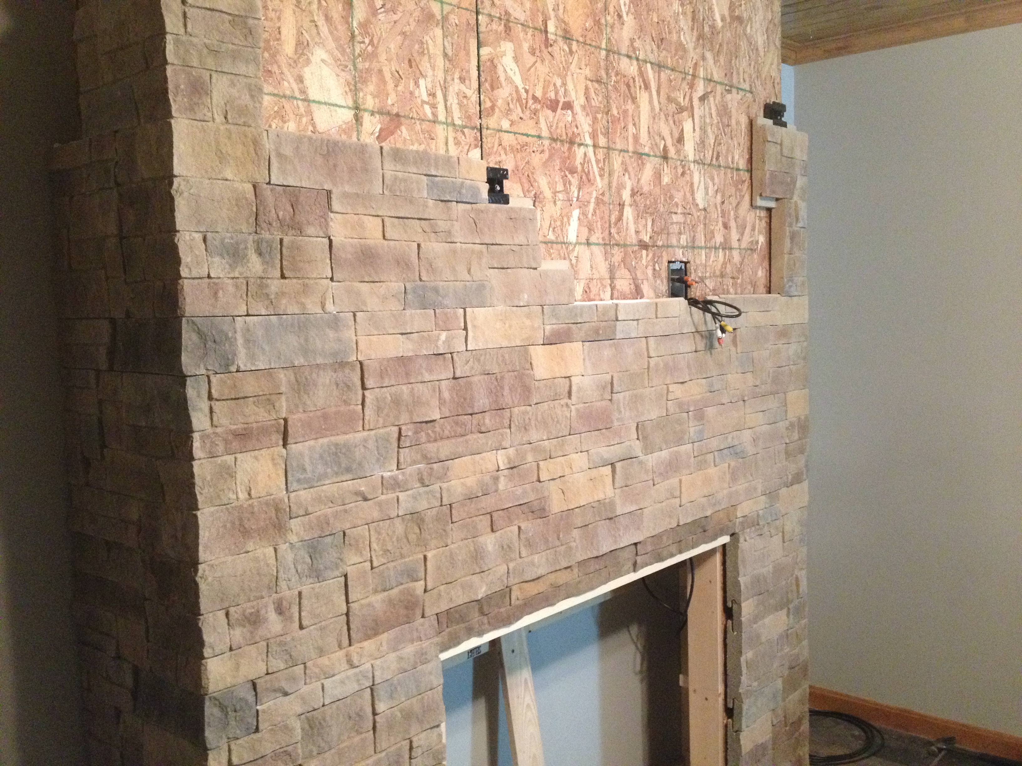 Dry Stack Stone Fireplace ~ dact.us