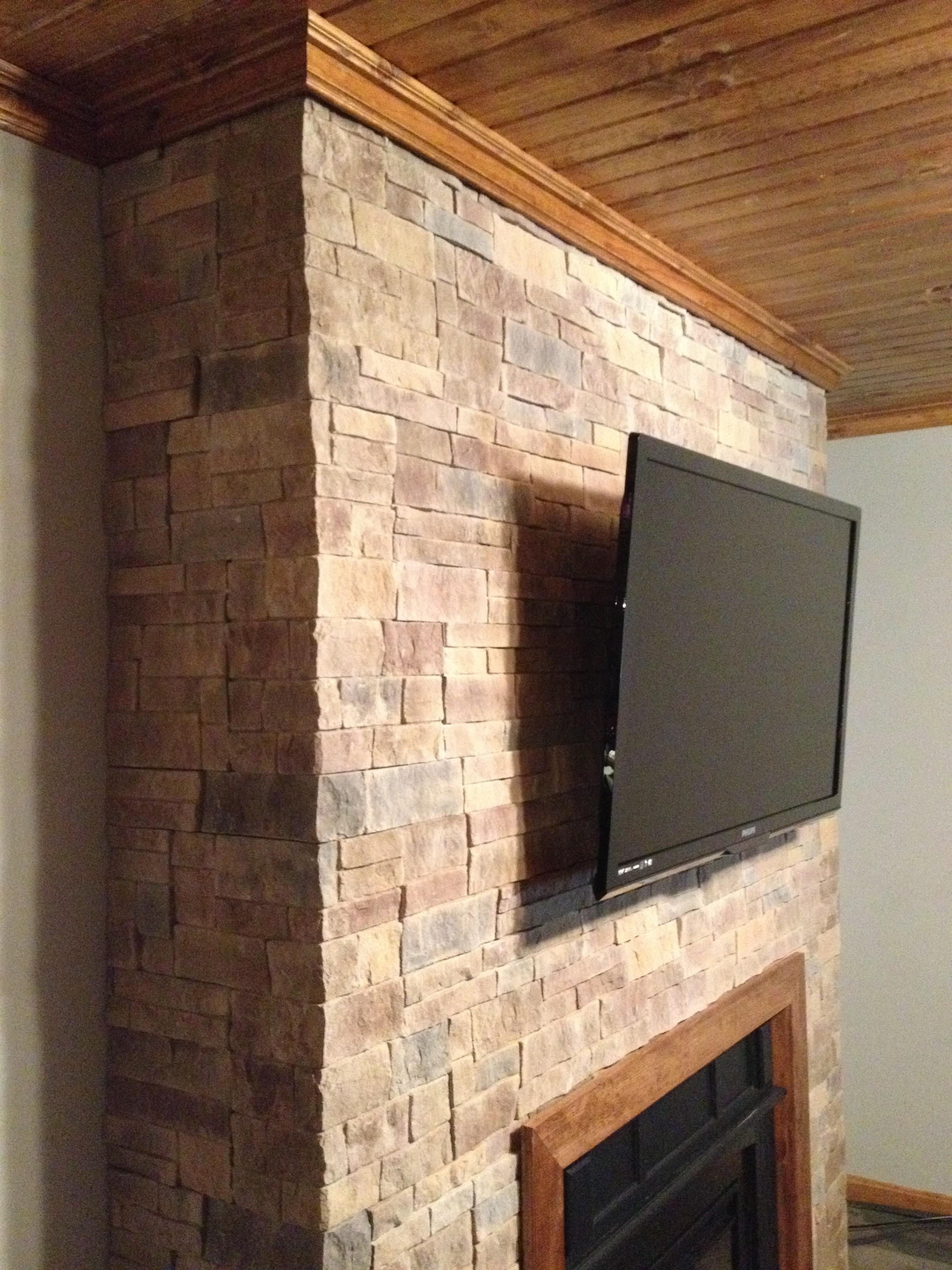 Durata Dry Stack Stone Fireplace Hicksville Ohio