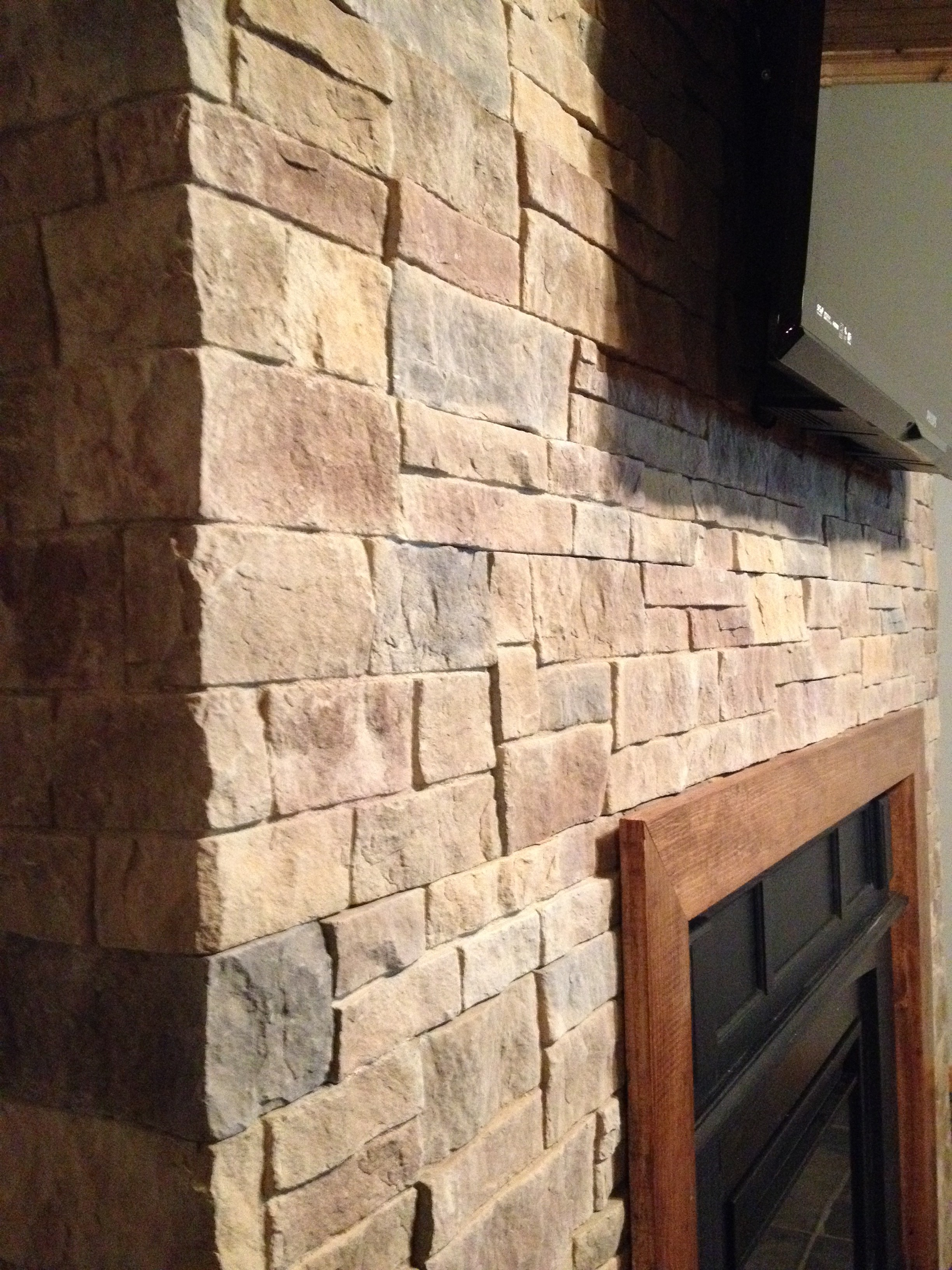 Durata Dry Stack Stone Fireplace Hicksville Ohio