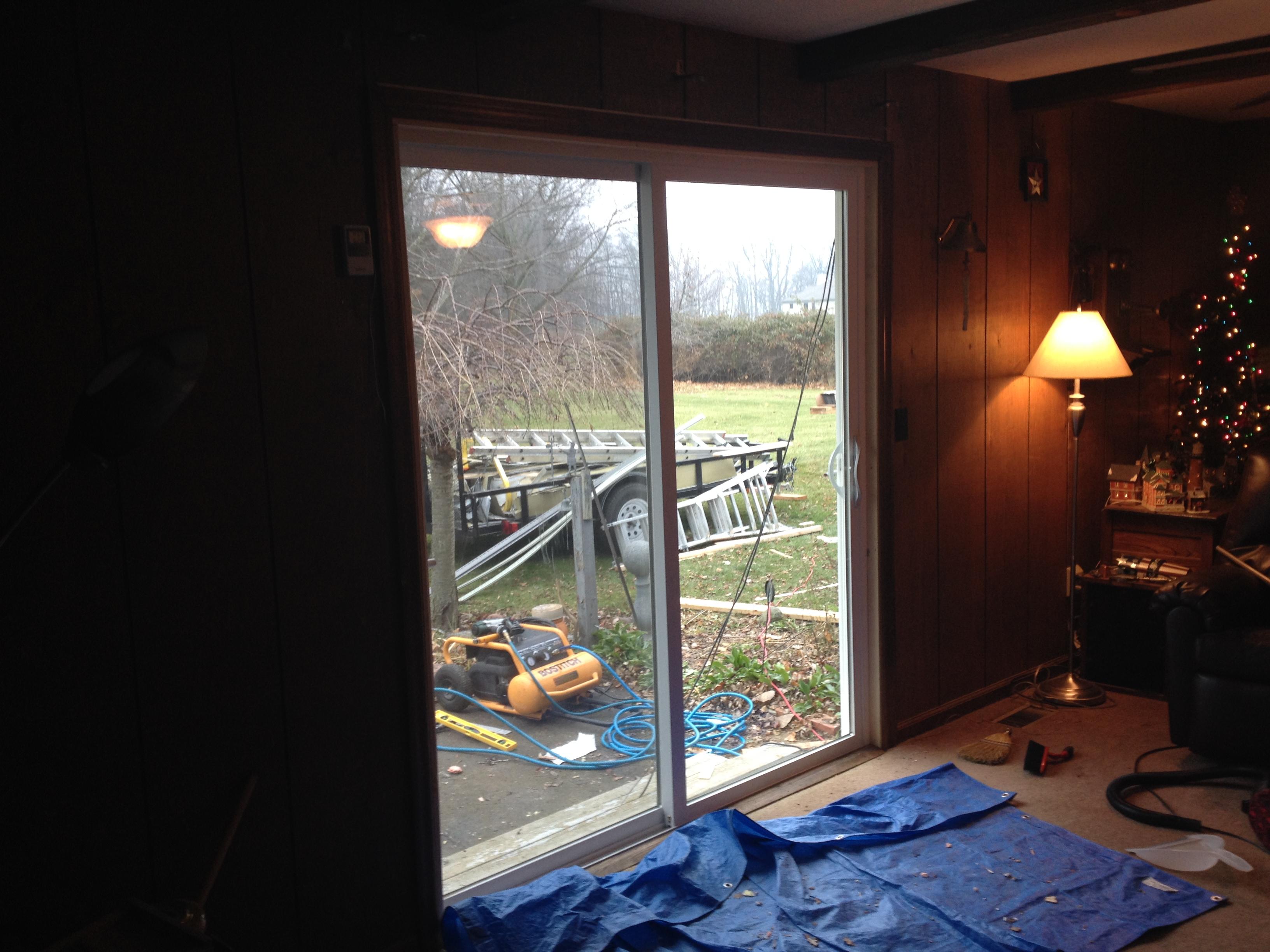 2448 #673A28 Jeld Wen Sliding Patio Door Installation U2013 Edgerton Ohio Pic Retrofit  Patio Doors