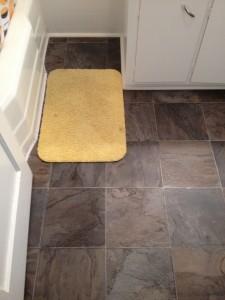 Toilet Subfloor Repair & Glueless Flooring Installation - Payne, Ohio