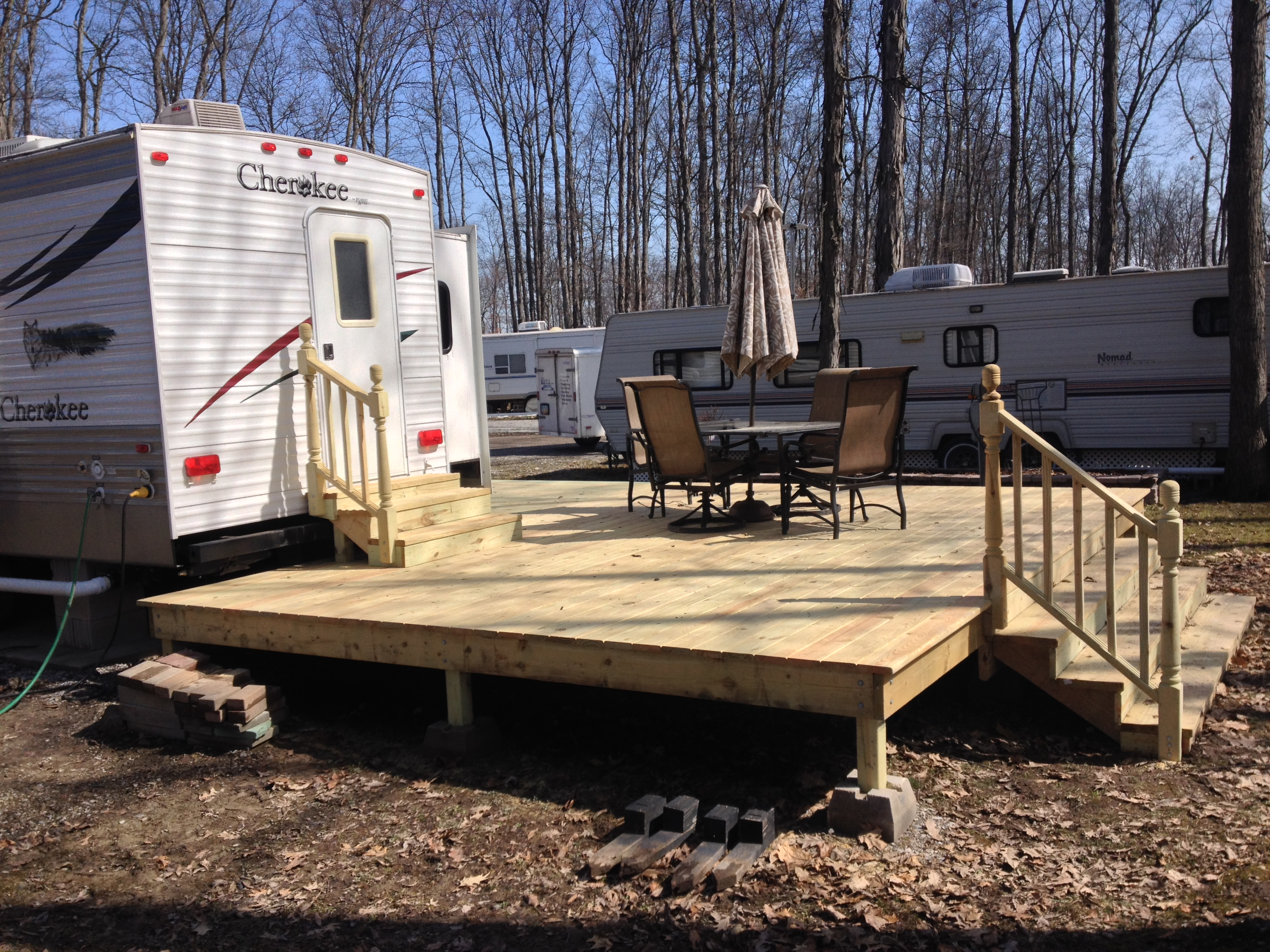Treated Wood Deck Hickory Acres Campground Edgerton