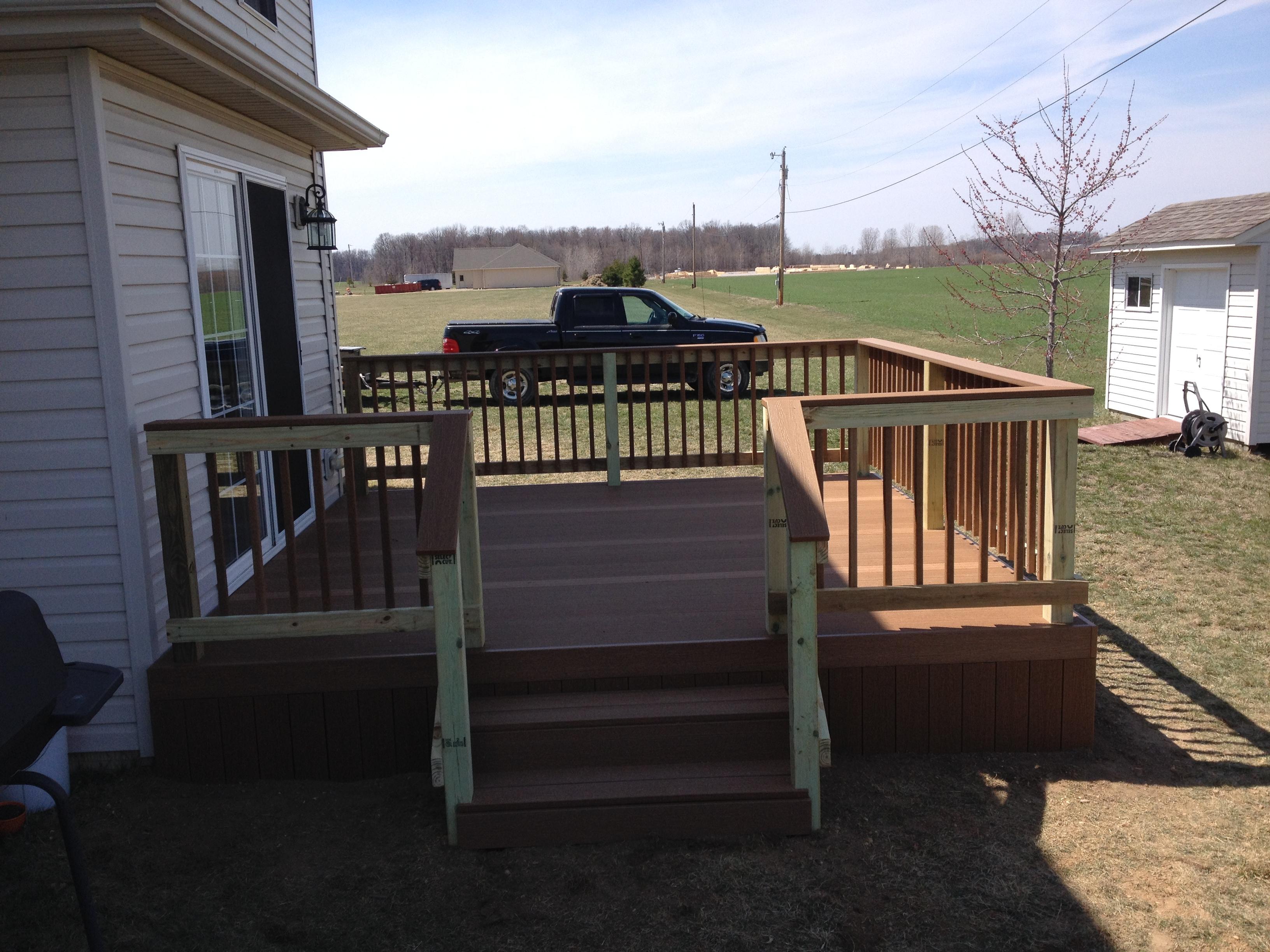 12 X 12 Hybrid Composite Deck Edgerton Ohio