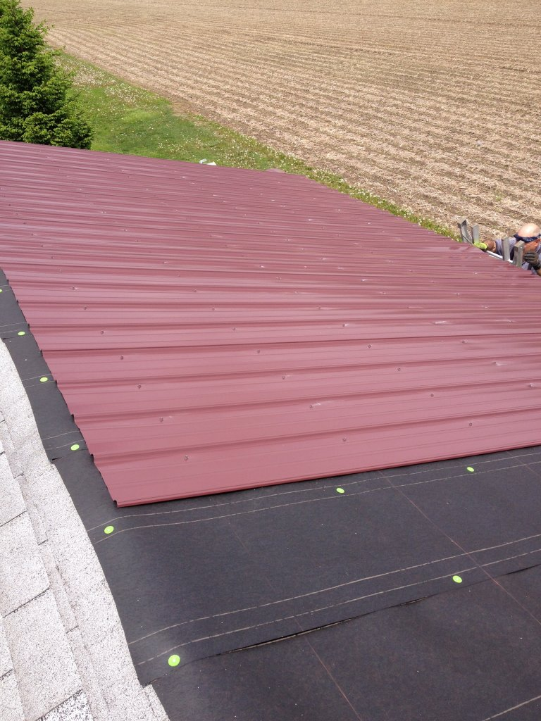 Pro Rib Steel Roof Garage Hicksville Ohio