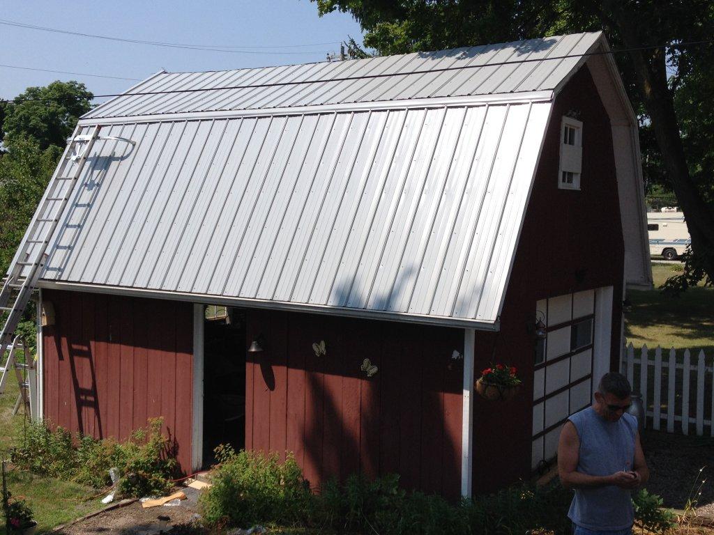 Pro rib steel gambrel roof barn edgerton ohio for Gambrel roof metal building