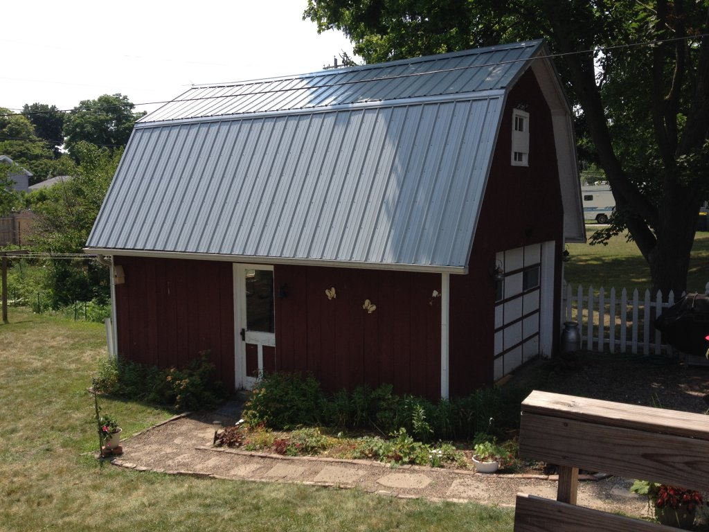 Pro rib steel gambrel roof barn edgerton ohio for Gambrel barn house