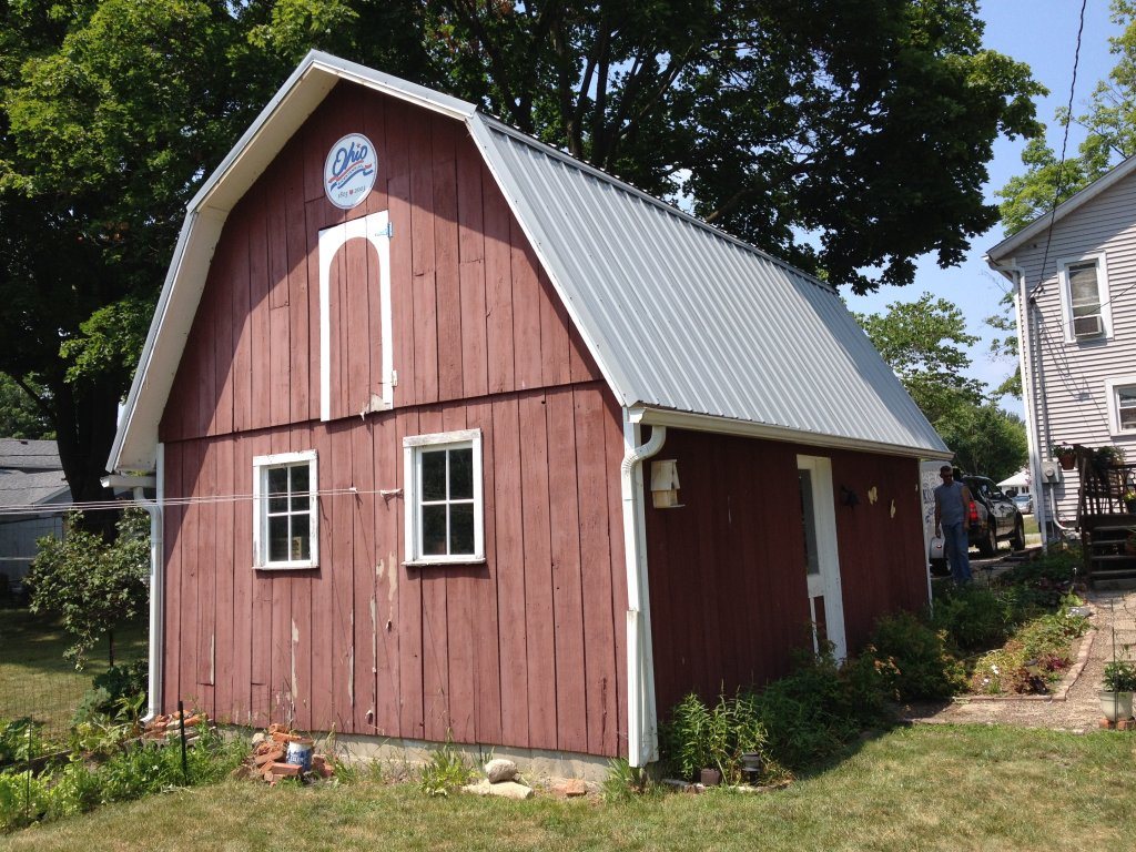 Pro Rib Steel Gambrel Roof Barn Edgerton Ohio
