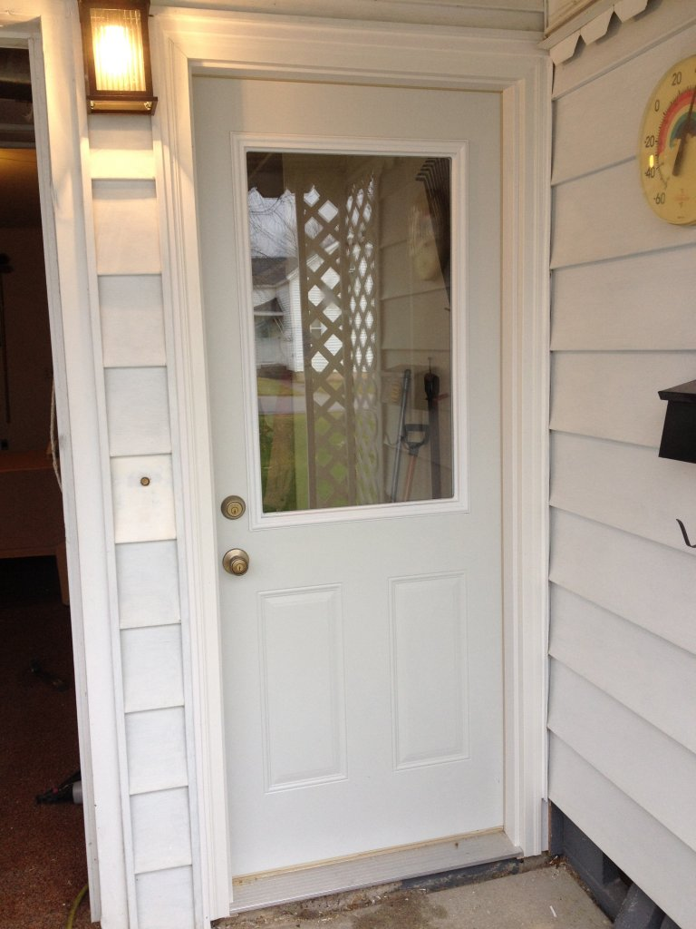 Mastercraft steel door installation antwerp ohio for Mastercraft storm doors