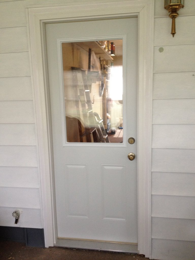 Mastercraft steel door installation antwerp ohio for Entry door installation