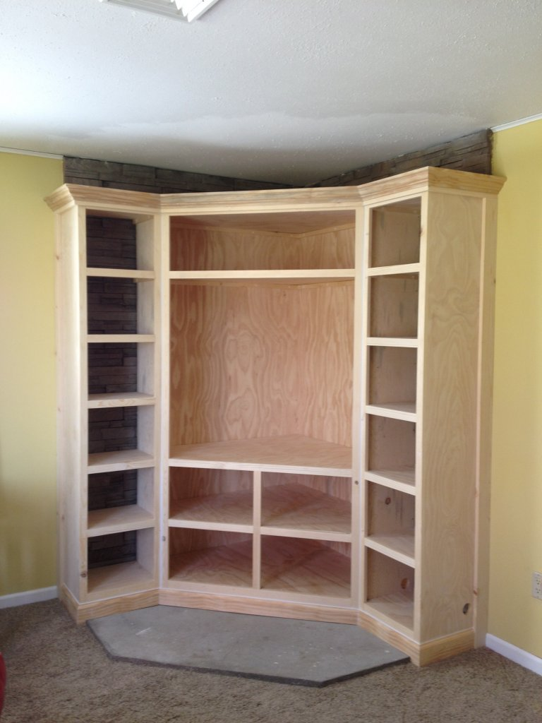Custom Entertainment Stand and Bookshelves - Hicksville, Ohio