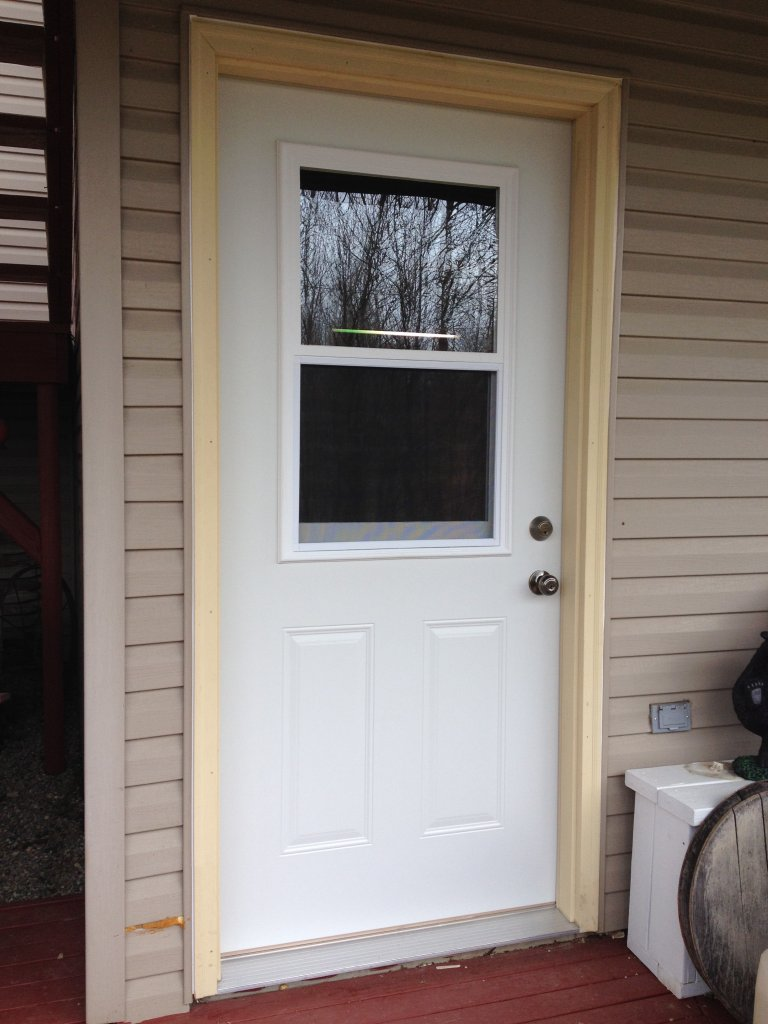 Mastercraft steel door installation edgerton ohio for Entry door installation
