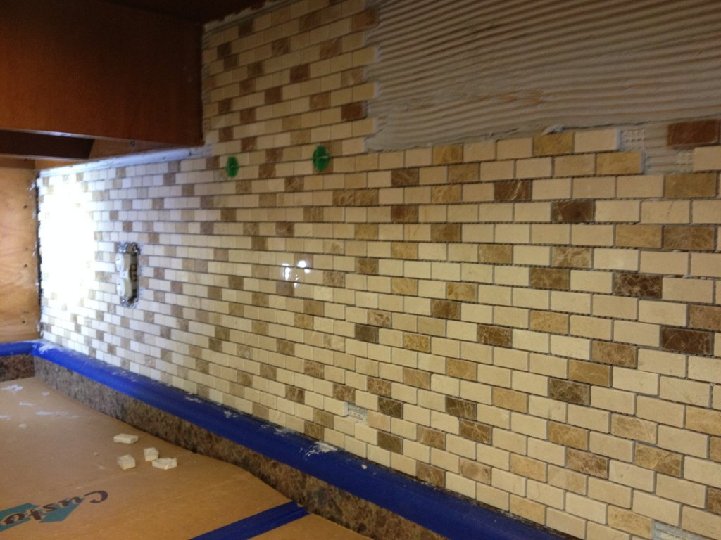 high resolution kitchen counter mosaic stone backsplash