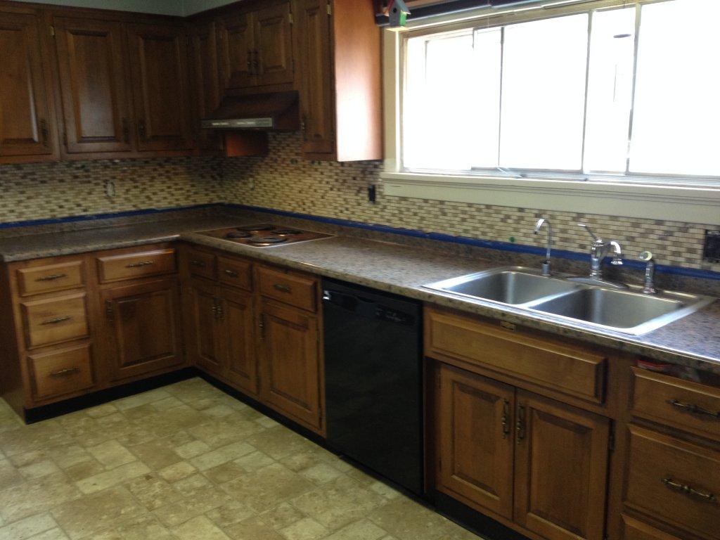 High Resolution Kitchen Counter Amp Mosaic Stone Backsplash