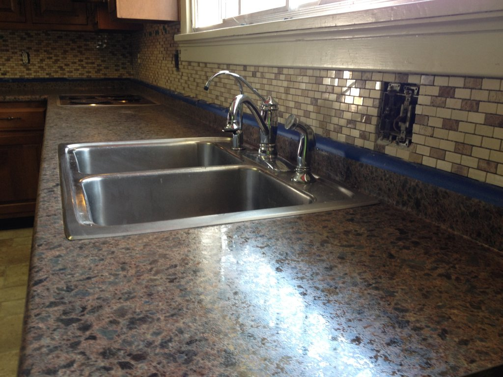 High Resolution Counter Top & Mosaic Stone Backsplash - Antwerp, Ohio
