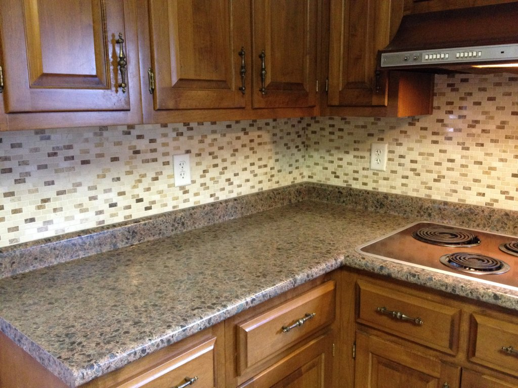 High Resolution Kitchen Counter Amp Mosaic Stone Backsplash