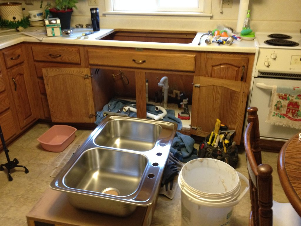 Stainless kitchen sink installation antwerp ohio for Kitchen installation